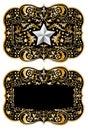 Cowboy belt buckle design II Royalty Free Stock Photo