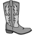 Cowboy Boot Illustration Royalty Free Stock Photo