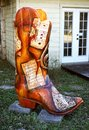 Cowboy boot with sheet music Royalty Free Stock Photo