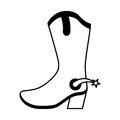 Cowboy boot shoe icon