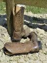 Cowboy boots Fotografia Stock
