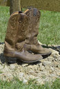 Cowboy boots Immagine Stock