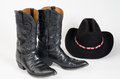 Cowboy Boots and Cowboy Hat. Royalty Free Stock Photo