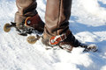 Cowboy Boots in the Snow Royalty Free Stock Photo