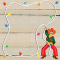 Cowboy Christmas Lasso Invitation Stock Photos