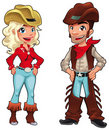 Cowboy and cowgirl. Stock Photography