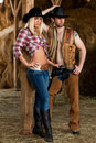 Cowboy and cowgirl Royalty Free Stock Photos