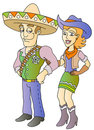Cowboy and cowgirl Royalty Free Stock Images