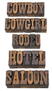 Cowboy, cowgirl, rodeo, saloon Stock Photos