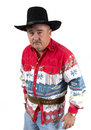 Cowboy Go for your gun Royalty Free Stock Photography