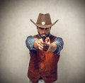 Cowboy with a gun Royalty Free Stock Photo
