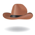 Cowboy hat brown isolated on white image contains gradient mesh Royalty Free Stock Photography