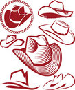 Cowboy Hat Collection Royalty Free Stock Image
