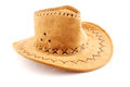 Cowboy hat traditional of the american west suede on white background Royalty Free Stock Images