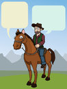 Cowboy on a horse Royalty Free Stock Photo