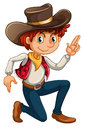 A cowboy illustration of on white background Royalty Free Stock Image