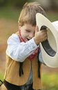 Cowboy little Royaltyfria Bilder