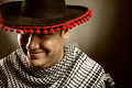 Cowboy mexican portrait of smiling Stock Photo