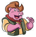 Cowboy Pig Royalty Free Stock Photo
