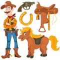 Cowboy pony saddle Royalty Free Stock Photo