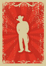 Cowboy poster Royalty Free Stock Photo
