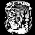 Cowboy revolver vector illustration