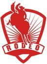 Cowboy riding bucking bronco Royalty Free Stock Photo