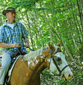 Cowboy Riding Horse Royalty Free Stock Image