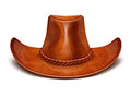 Cowboy's leather hat stetson Stock Photography