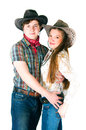 Cowboy's love story Royalty Free Stock Images
