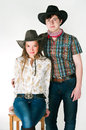 Cowboy's love story Stock Photography
