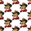 Cowboy seamless pattern background with cartoon Royalty Free Stock Image
