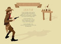 Cowboy shoot the gun target for success infographics conceptual illustration design Stock Photos
