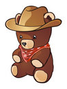 Cowboy Teddy Bear Royalty Free Stock Photo