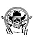 Cowboy and two pistols Royalty Free Stock Image