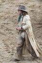 Cowboy walking Royalty Free Stock Photo