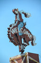 Cowboy welcome sign bei million dollar cowboy bar Lizenzfreie Stockfotos
