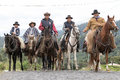 Cowboys from the Andes of Ecuador Royalty Free Stock Photo
