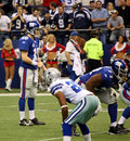 Cowboys and Giants with Eli Manning Royalty Free Stock Photo
