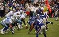Cowboys Giants Romo Taking Snap Royalty Free Stock Photo
