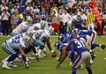 Cowboys Romo Offense Face Giants Defense Royalty Free Stock Photo