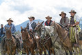 Cowboys at a rural rodeo event in Ecuador Royalty Free Stock Photo