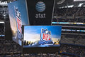 Cowboys Stadium Scoreboard Video Screen Royalty Free Stock Photo