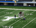 Cowboys Stadium Super Bowl Workers Stock Photo