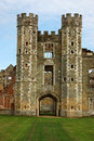 Cowdray Ruinen, Westsussex Stockfotos