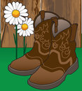 Cowgirl Boots and Flowers