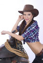 Cowgirl Candid 2 Stock Photo