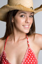 Cowgirl do verão Fotografia de Stock Royalty Free
