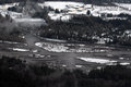 Cowlitz river flooding washington state floodwaters swell from in Stock Photography