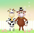 Cows couple Royalty Free Stock Photo